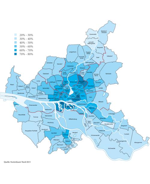 Ein-Personen-Haushalte in HH, 2017